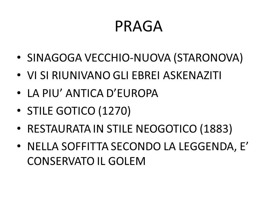 PRAGA SINAGOGA VECCHIO-NUOVA (STARONOVA)