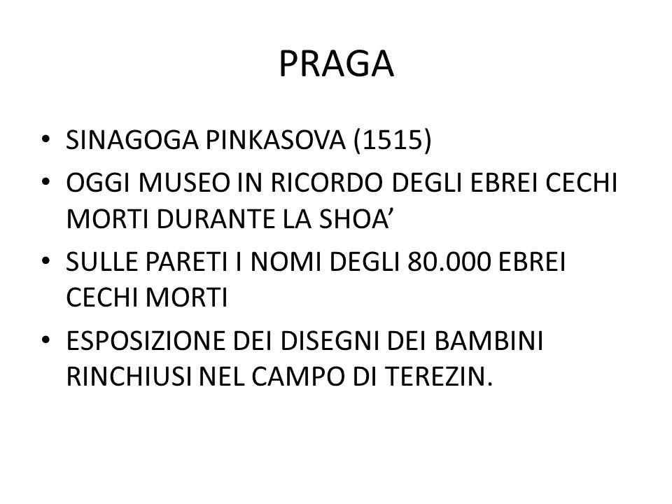PRAGA SINAGOGA PINKASOVA (1515)