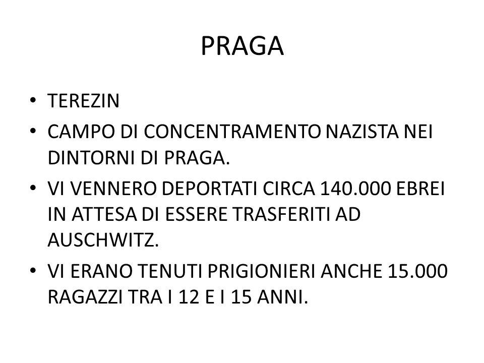 PRAGA TEREZIN CAMPO DI CONCENTRAMENTO NAZISTA NEI DINTORNI DI PRAGA.