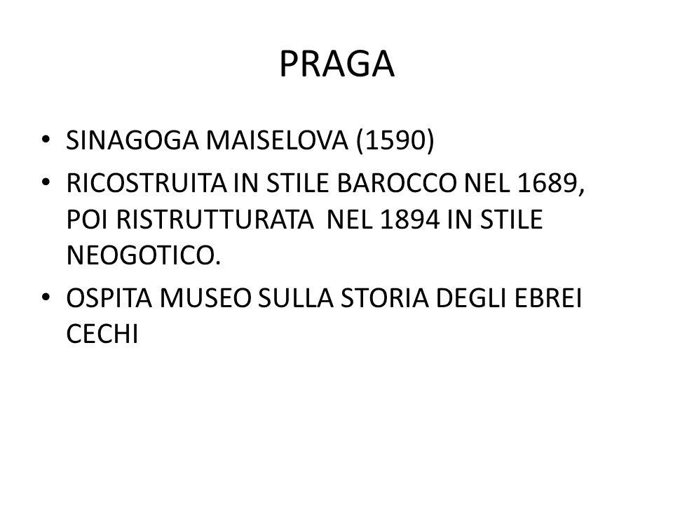 PRAGA SINAGOGA MAISELOVA (1590)