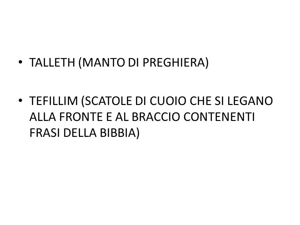 TALLETH (MANTO DI PREGHIERA)