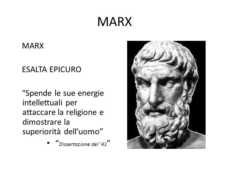 MARX MARX ESALTA EPICURO