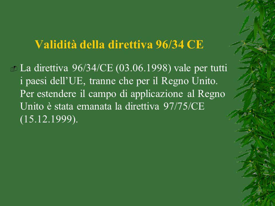 Validità della direttiva 96/34 CE