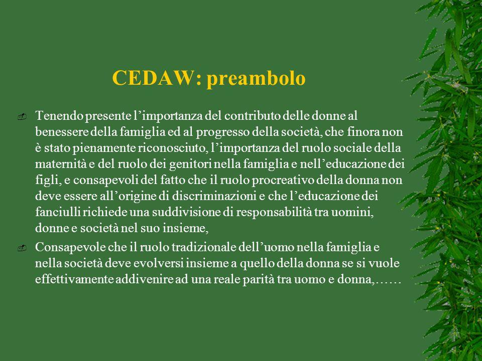 CEDAW: preambolo