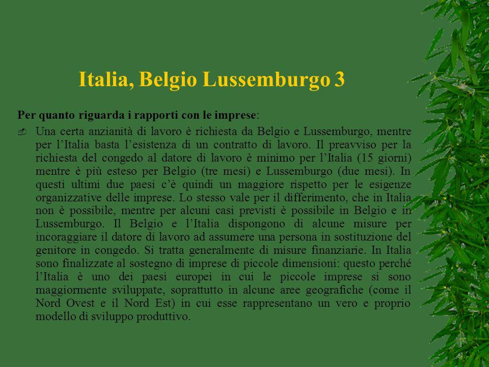 Italia, Belgio Lussemburgo 3