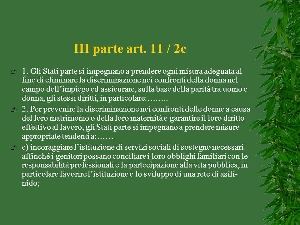 III parte art. 11 / 2c