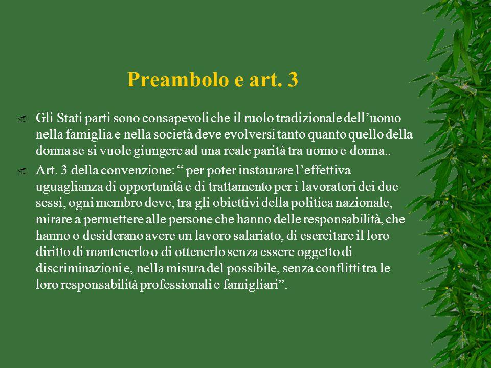Preambolo e art. 3