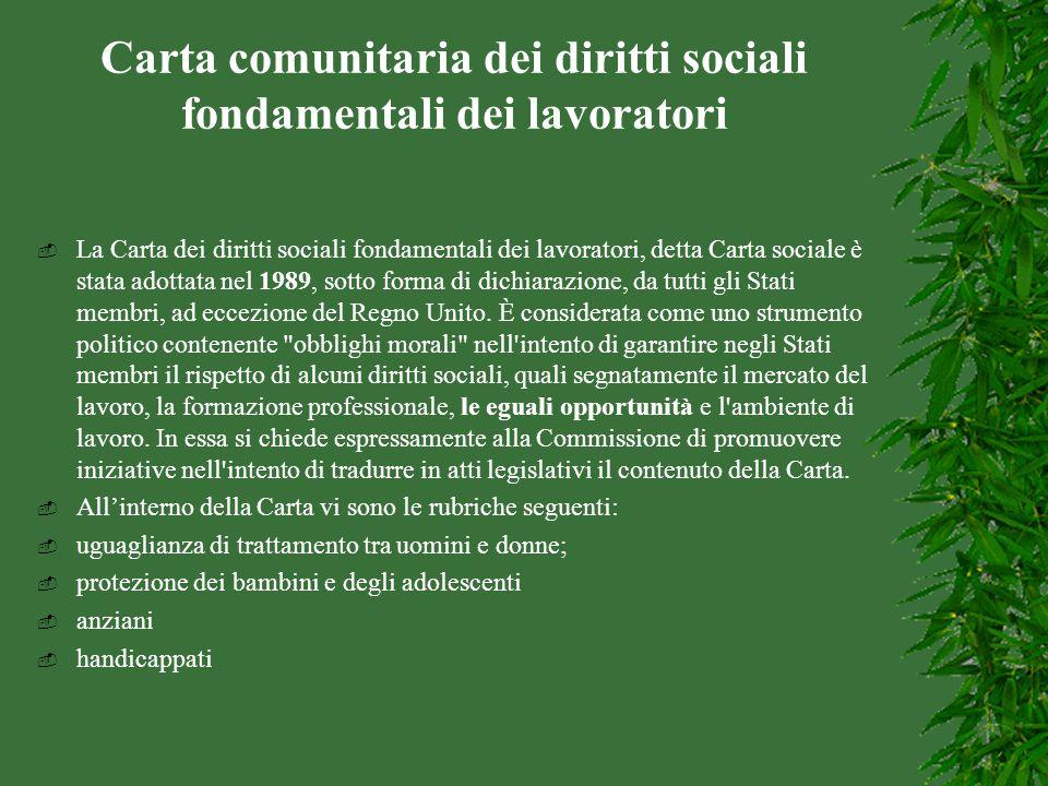 Carta comunitaria dei diritti sociali fondamentali dei lavoratori