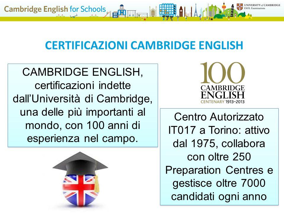 CERTIFICAZIONI CAMBRIDGE ENGLISH