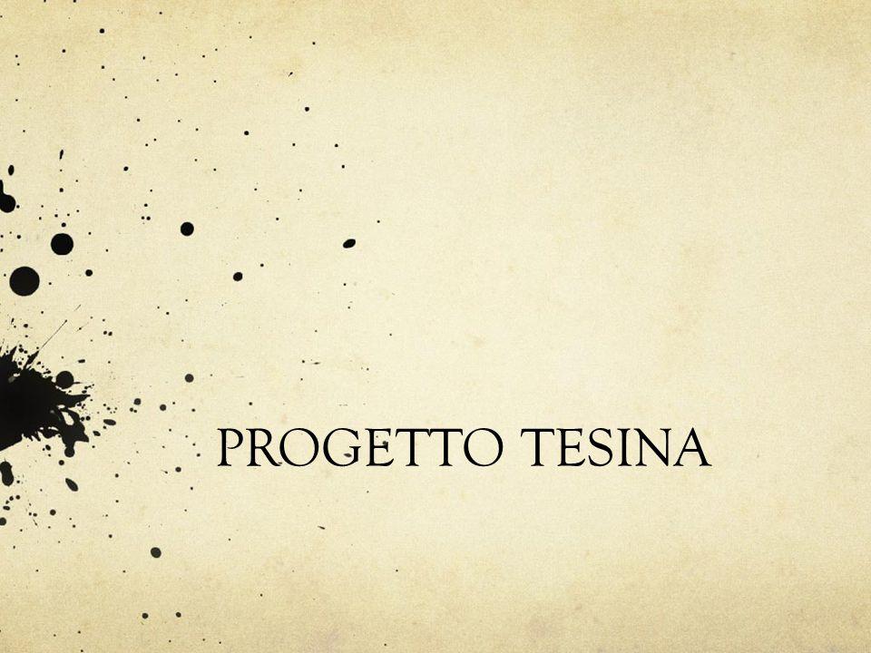 PROGETTO TESINA