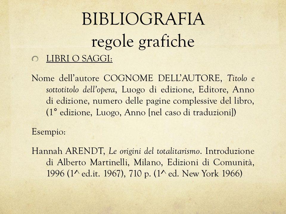 BIBLIOGRAFIA regole grafiche
