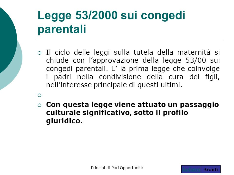 Legge 53/2000 sui congedi parentali