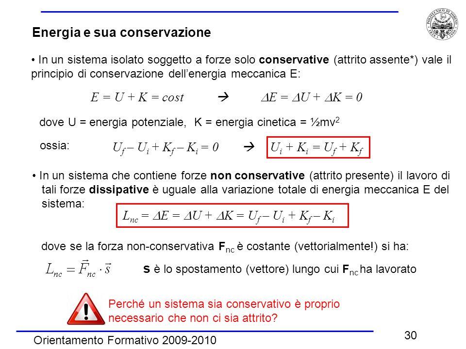 Energia e sua conservazione