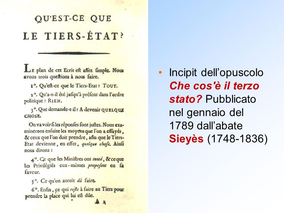 Incipit dell'opuscolo Che cos è il terzo stato
