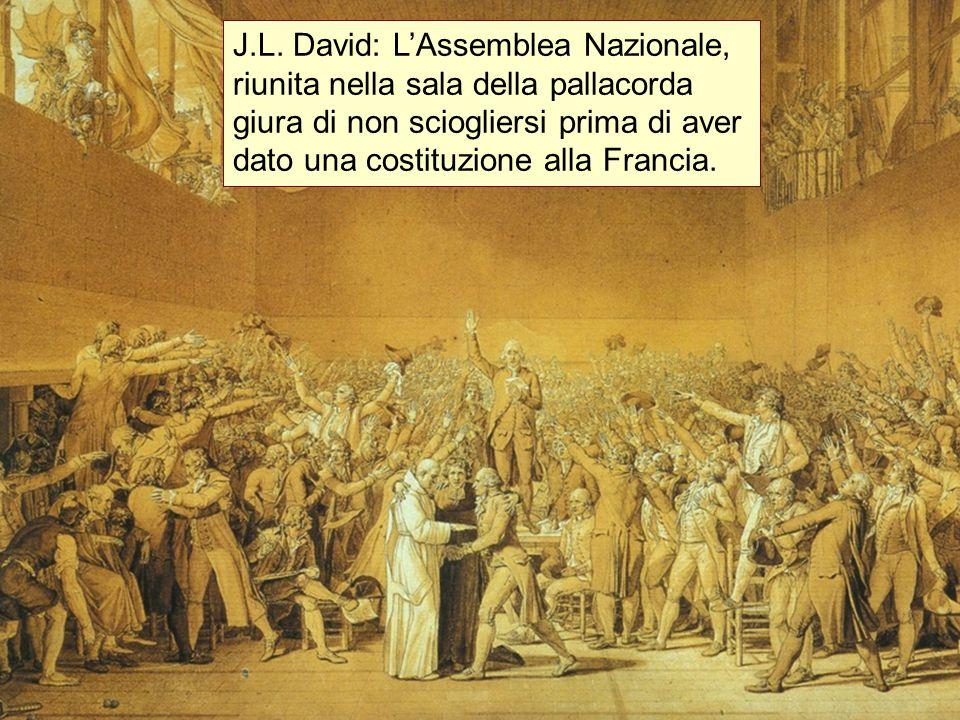 J.L. David: L'Assemblea Nazionale, riunita nella sala della pallacorda giura di non sciogliersi prima di aver dato una costituzione alla Francia.
