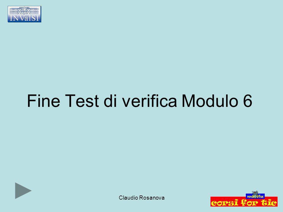 Fine Test di verifica Modulo 6