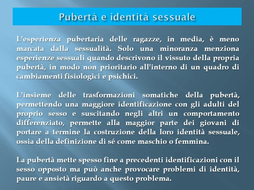 Pubertà e identità sessuale