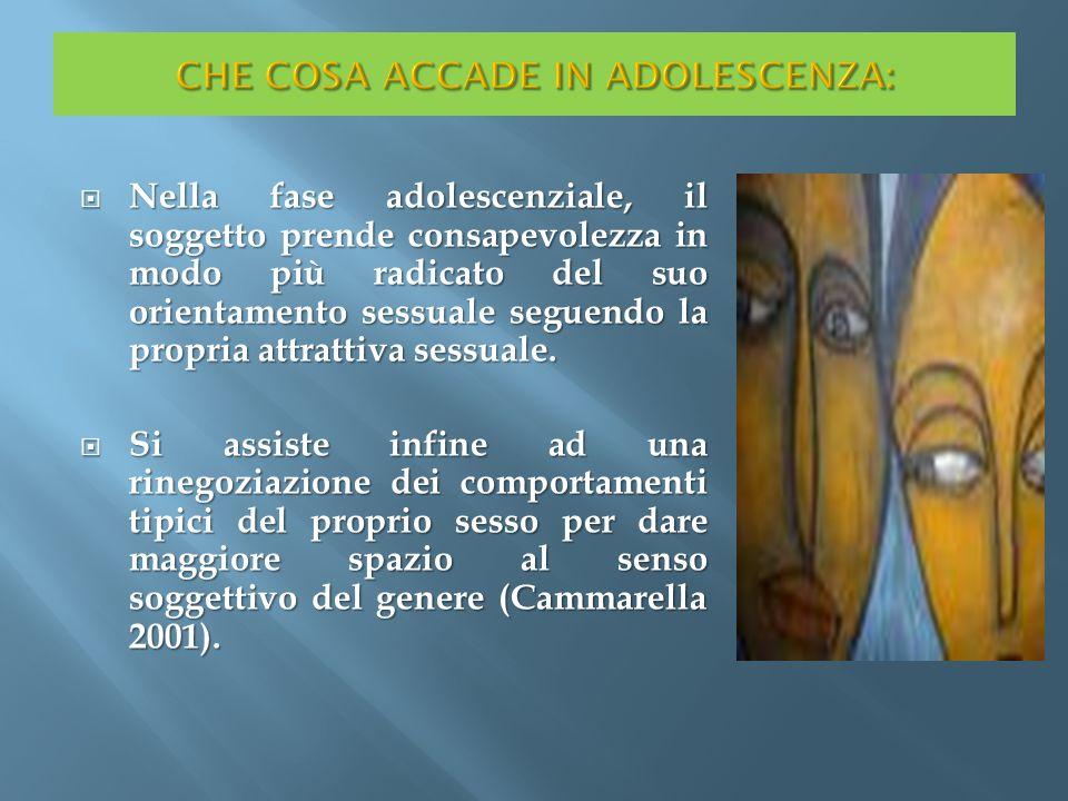 CHE COSA ACCADE IN ADOLESCENZA: