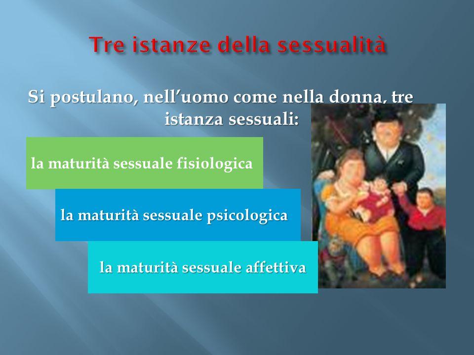 Tre istanze della sessualità