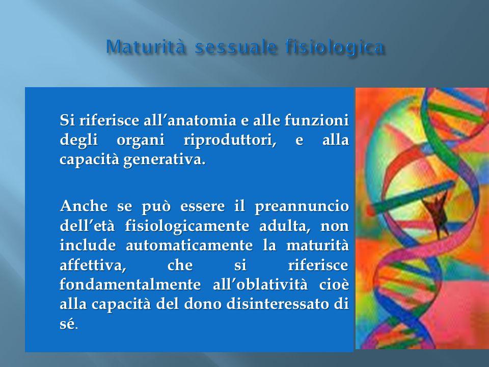 Maturità sessuale fisiologica