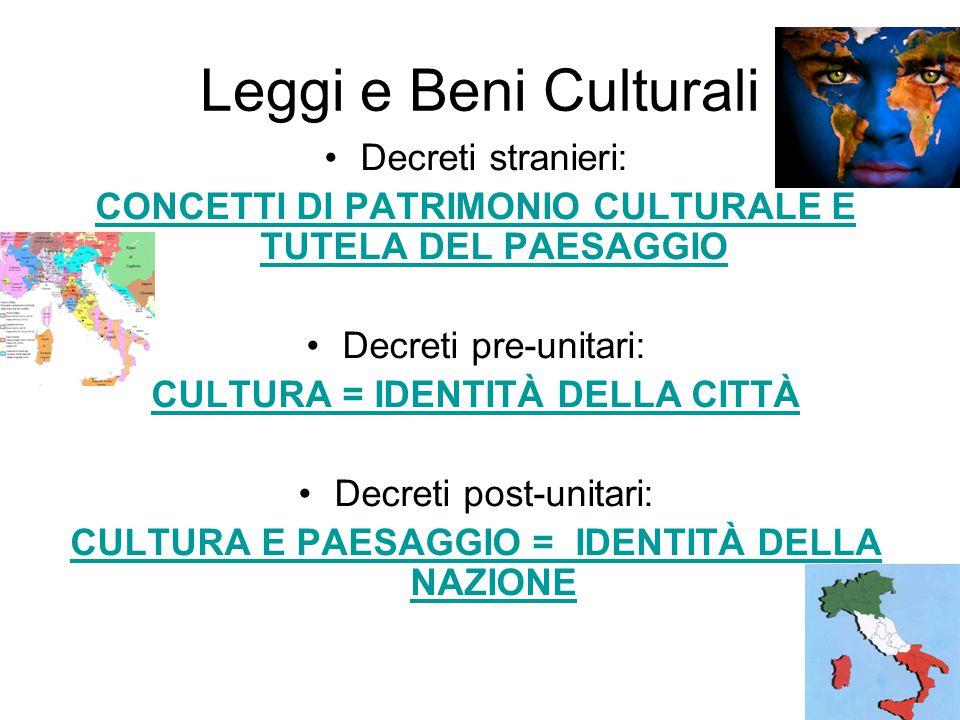 Leggi e Beni Culturali Decreti stranieri: