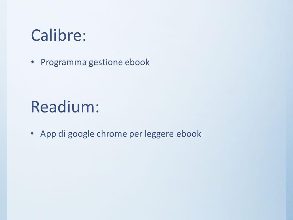 Calibre: Readium: Programma gestione ebook