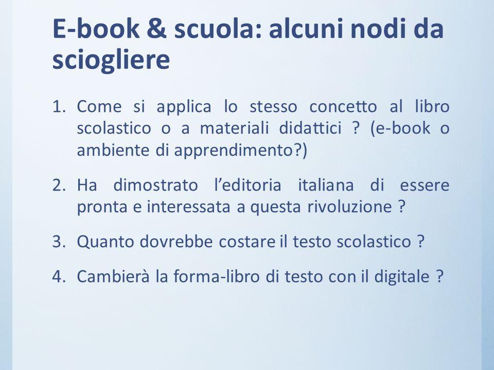 E-book & scuola: alcuni nodi da sciogliere