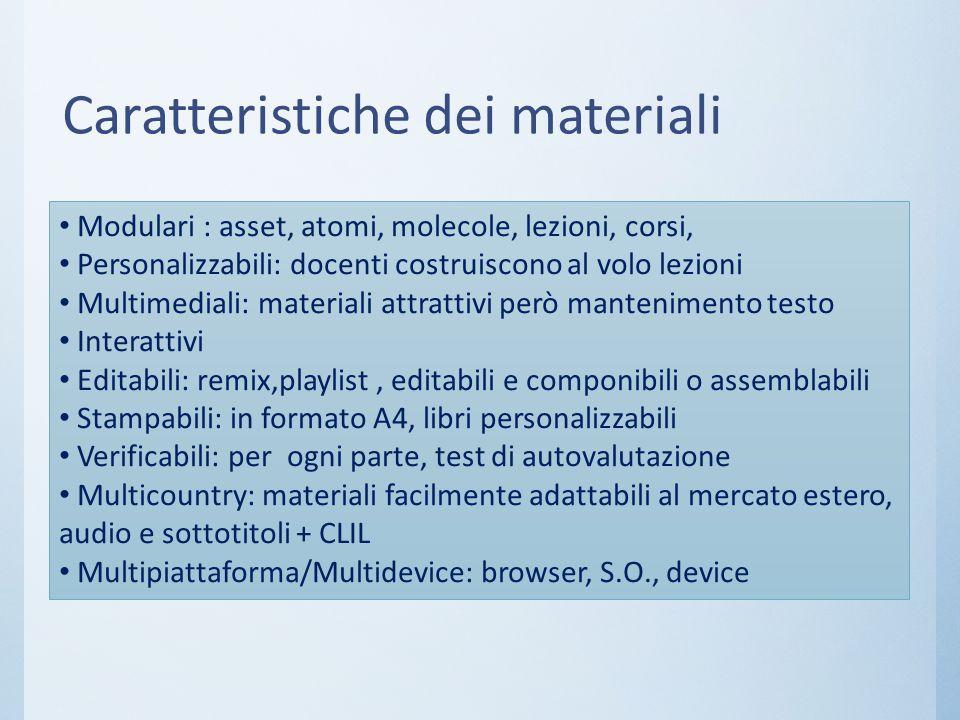 Caratteristiche dei materiali