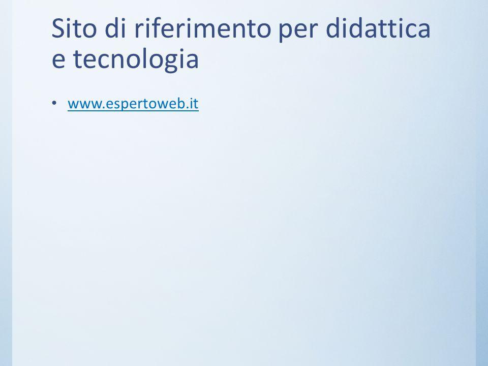 Sito di riferimento per didattica e tecnologia