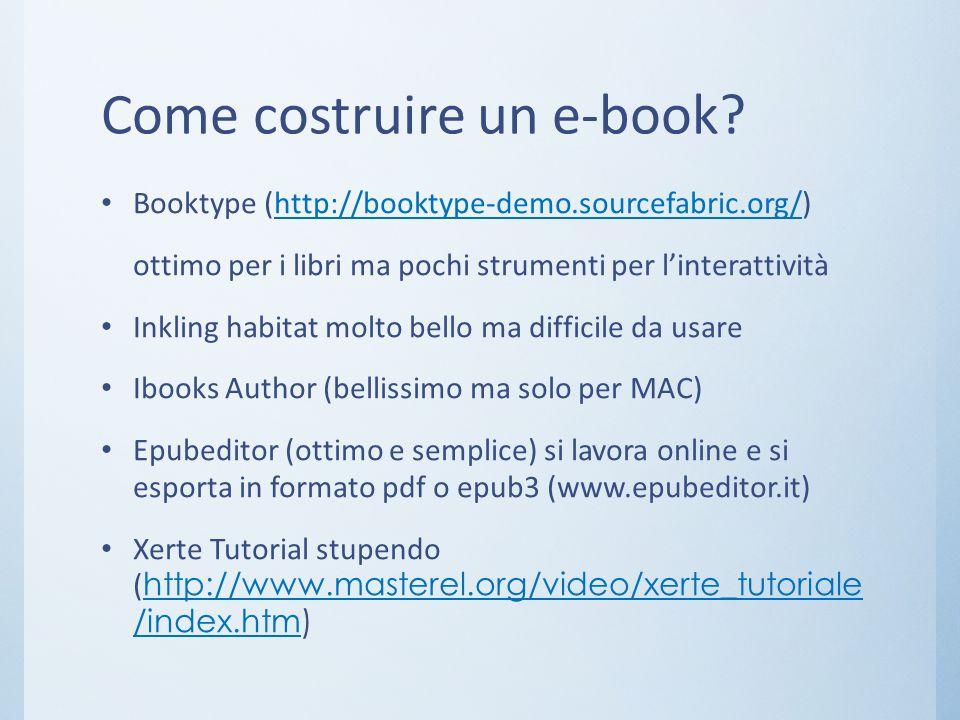 Come costruire un e-book