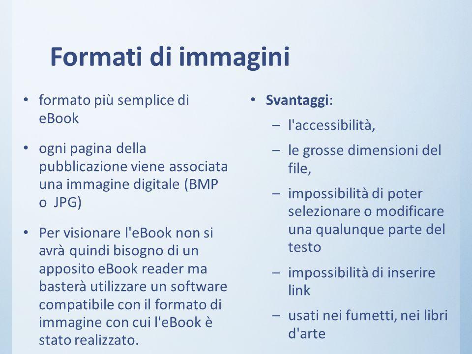 Formati di immagini formato più semplice di eBook