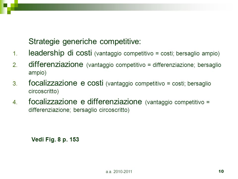 Strategie generiche competitive: