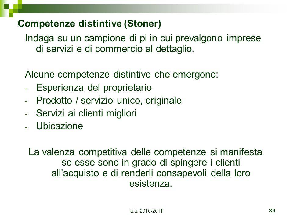 Competenze distintive (Stoner)