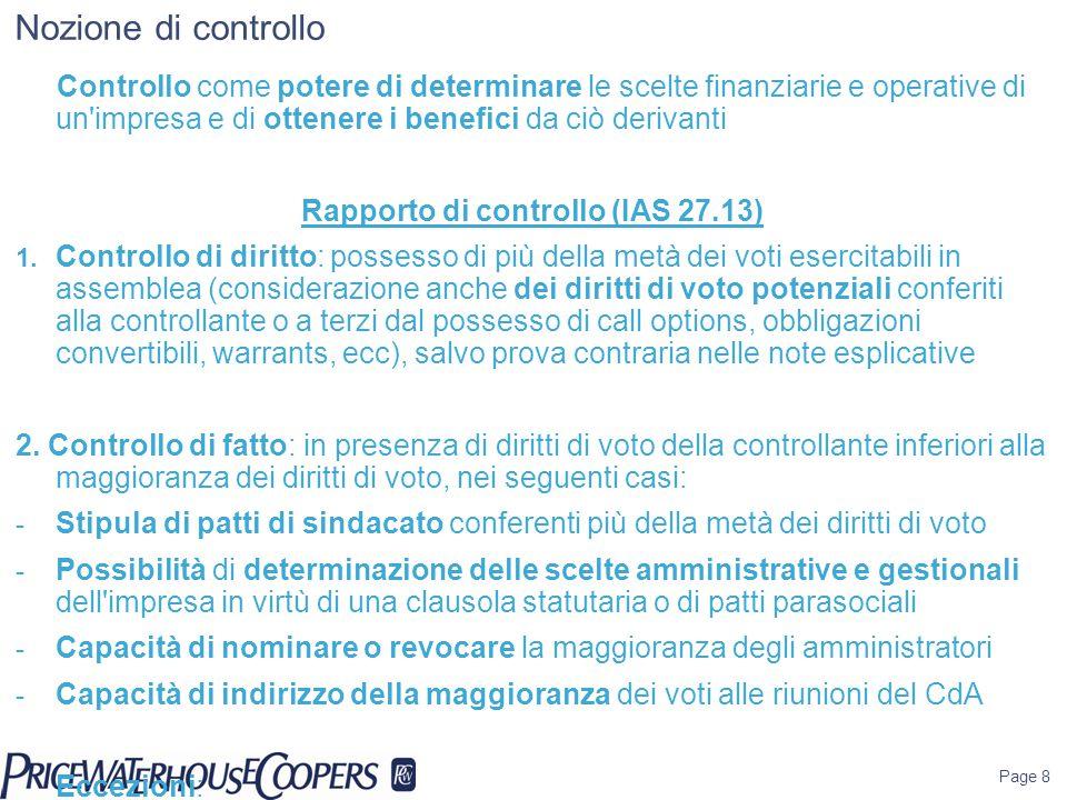 Rapporto di controllo (IAS 27.13)
