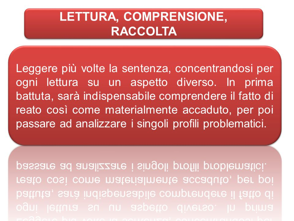 LETTURA, COMPRENSIONE, RACCOLTA