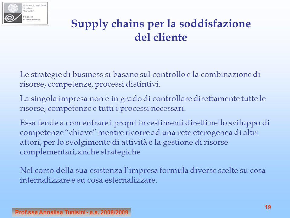 Supply chains per la soddisfazione del cliente