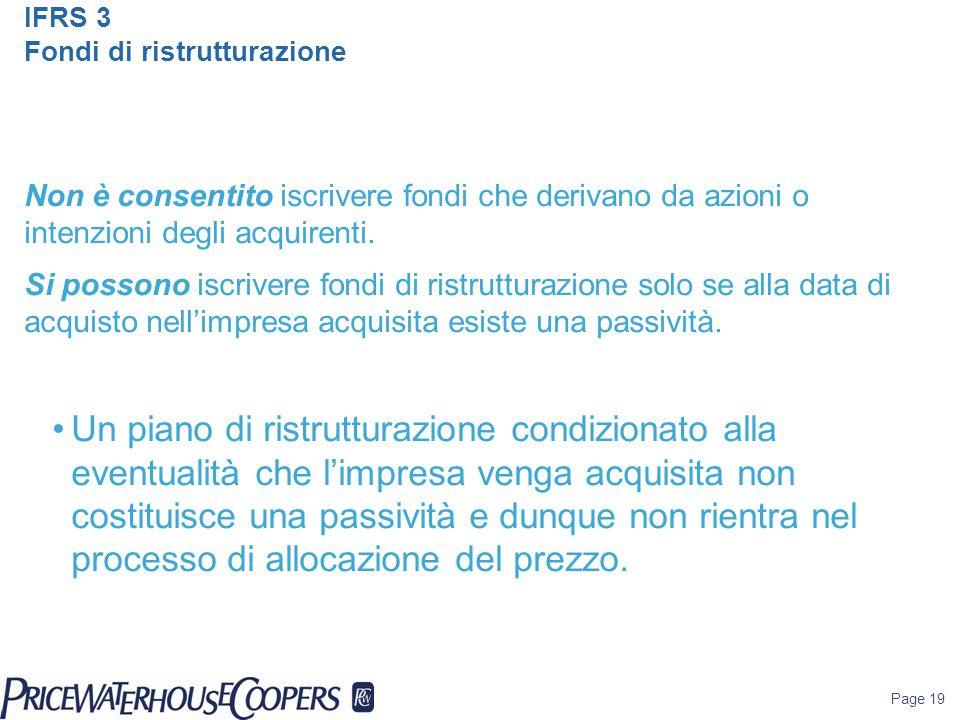 IFRS 3 Fondi di ristrutturazione