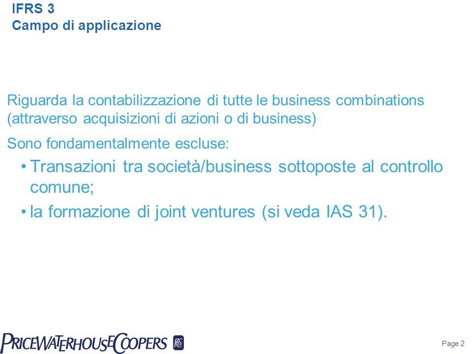 IFRS 3 Campo di applicazione
