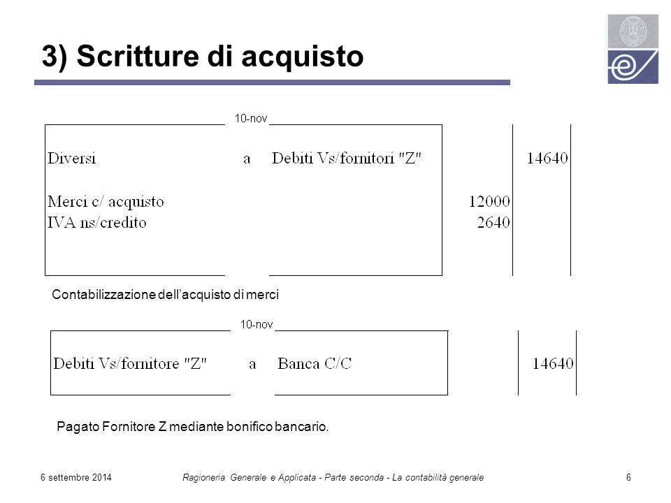 3) Scritture di acquisto