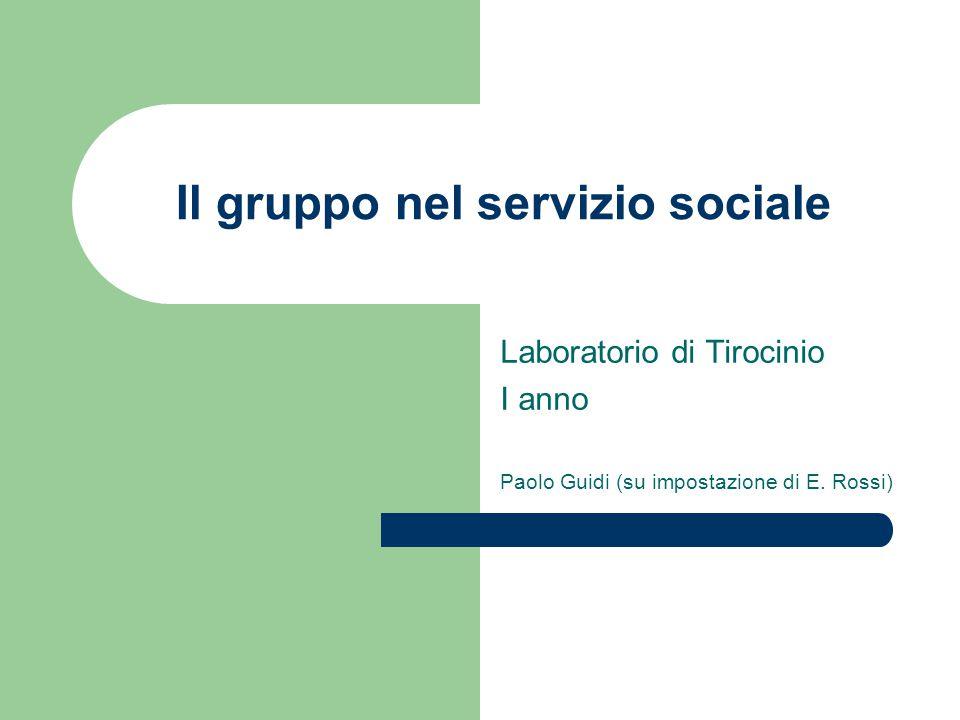 Il gruppo nel servizio sociale