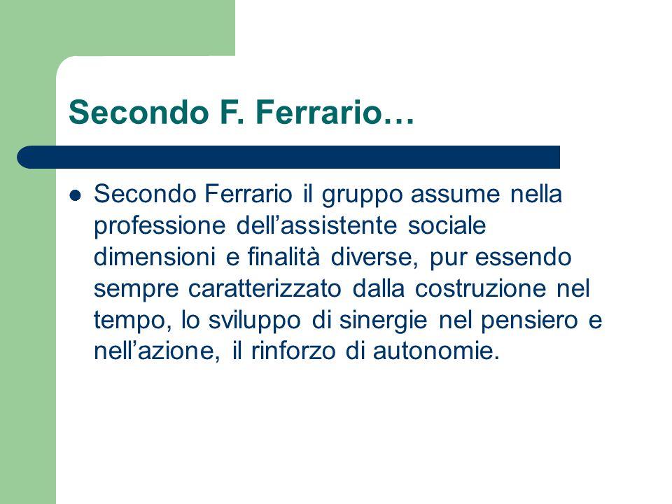 Secondo F. Ferrario…