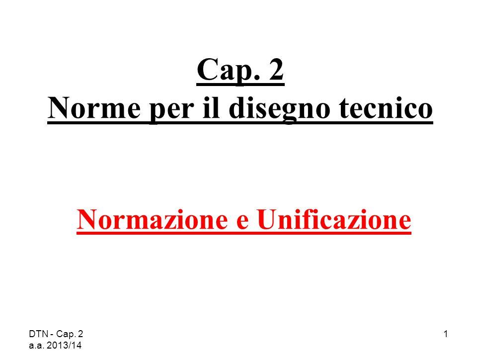 Cap. 2 Norme per il disegno tecnico