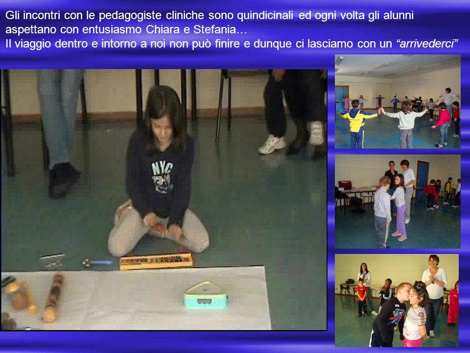 Gli incontri con le pedagogiste cliniche sono quindicinali ed ogni volta gli alunni aspettano con entusiasmo Chiara e Stefania…