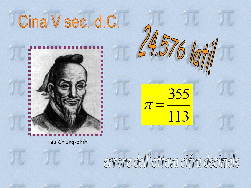 errore dall ottava cifra decimale