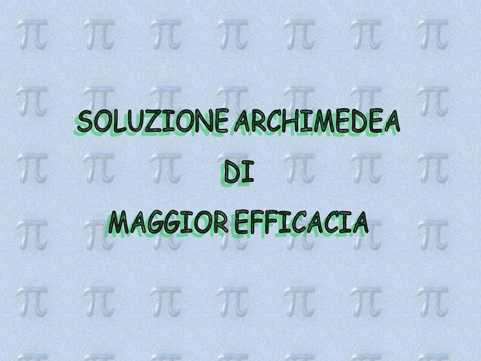 SOLUZIONE ARCHIMEDEA DI MAGGIOR EFFICACIA