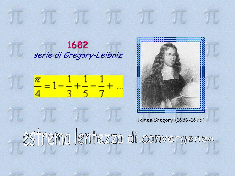 1682 serie di Gregory-Leibniz estrema lentezza di convergenza