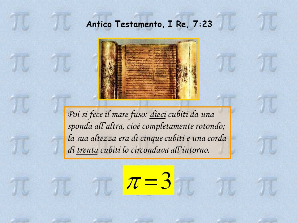 Antico Testamento, I Re, 7:23