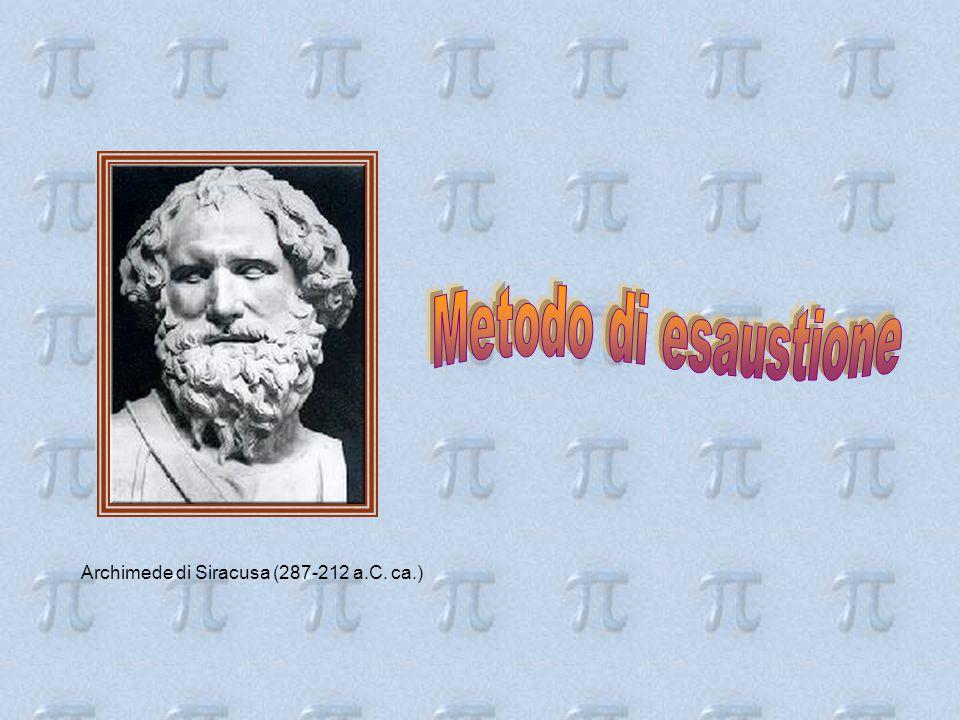 Metodo di esaustione Archimede di Siracusa (287-212 a.C. ca.)