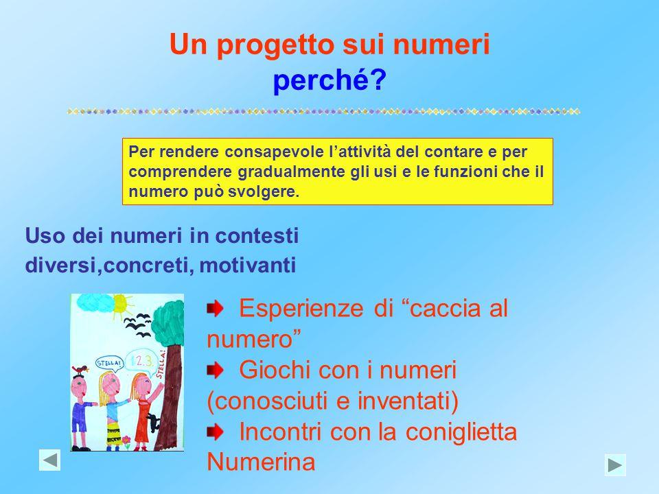 Un progetto sui numeri perché