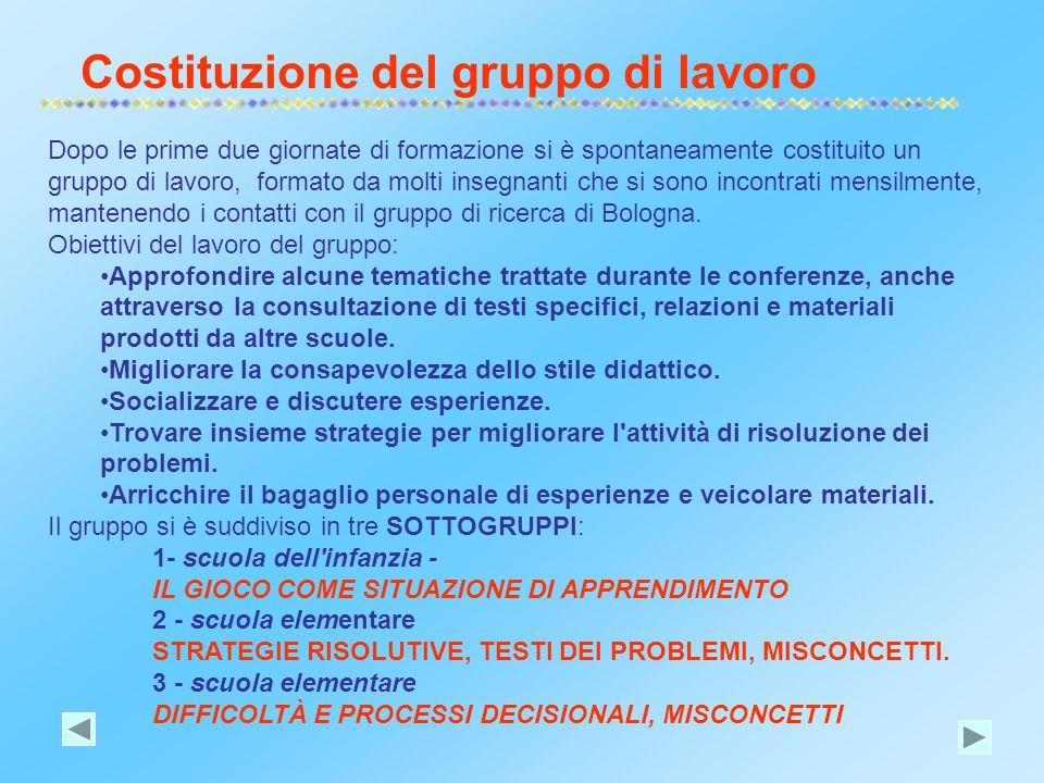Costituzione del gruppo di lavoro